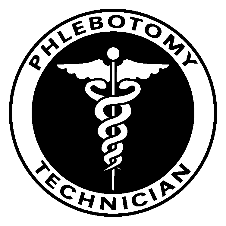 Phlebotomy and symbol in circle