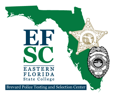 Brevard Police Testing Center text with state of Florida