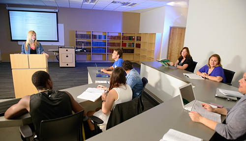 Paralegal classroom with instructor