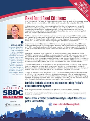 Real Food Real Kitchens FSBDC Success Story