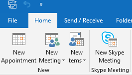 New Appointment in Outlook Calendar