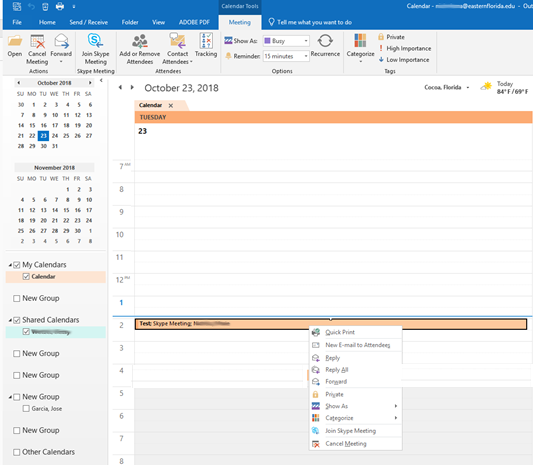 Schedule a Meeting in Outlook Calendar