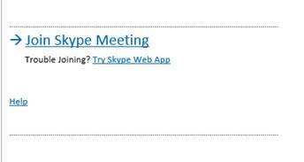 Join a Skype Meeting