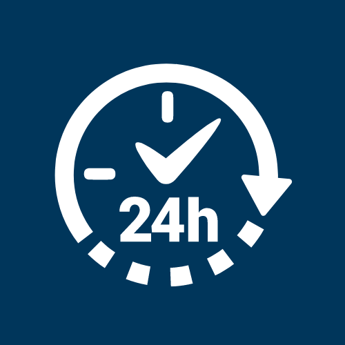 Eastern Fllorida Online 24 hour clock icon