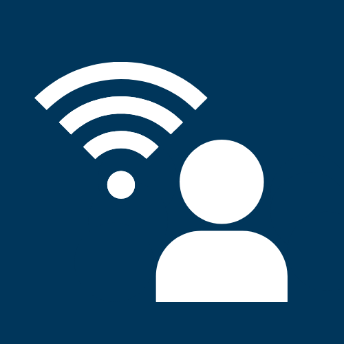 Hybrid Class - Person and Wifi Symbol