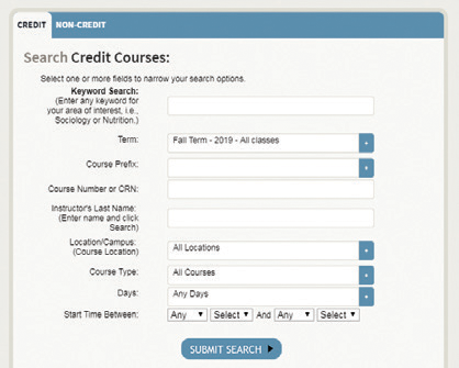 Search Credit Courses