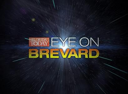 Florida Today Eye on Brevard text over night sky background