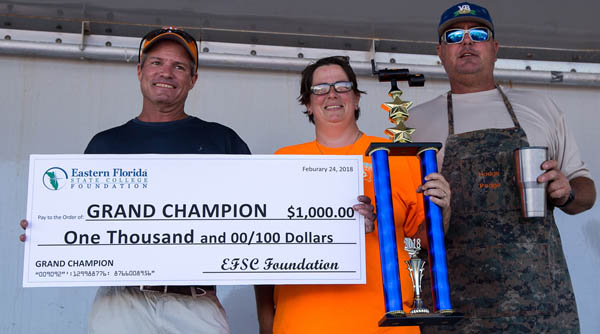 BBQ Cook off team grand champions 2018