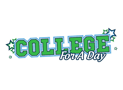college for a day text over white background