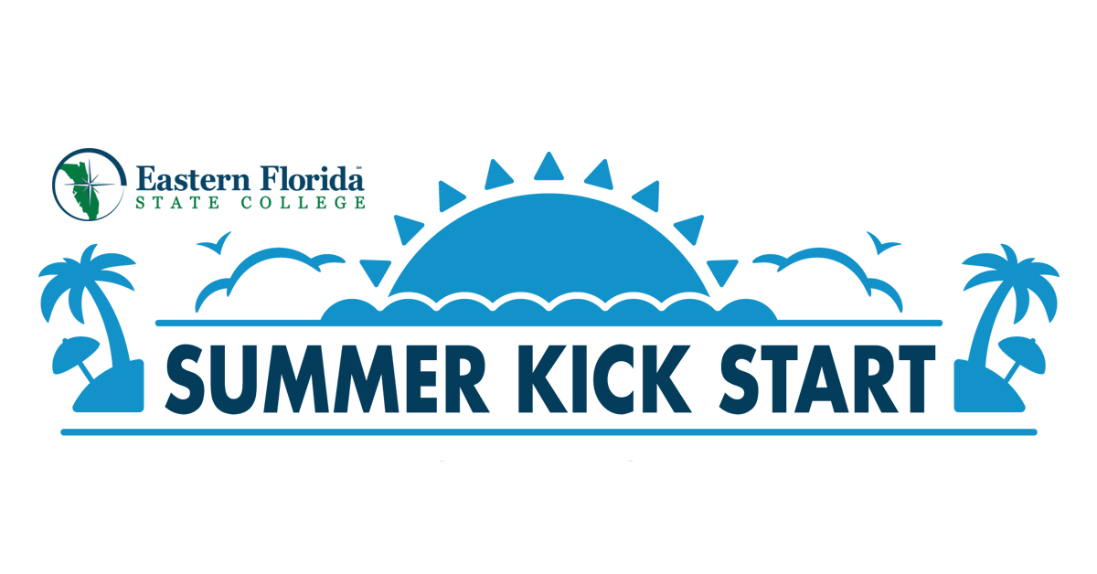 blue sun graphic with summer kick start image