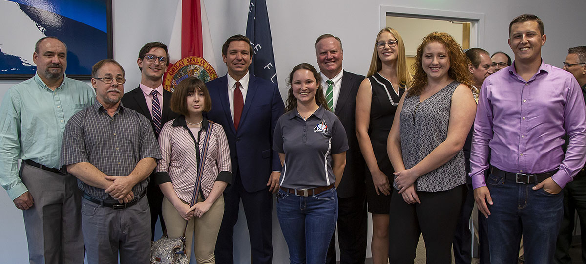 EFSC students and Florida Governor Ron DeSantis