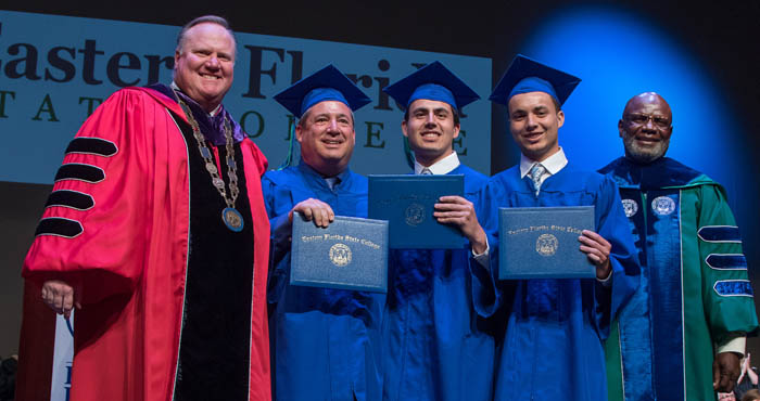Father and son EFSC graduates