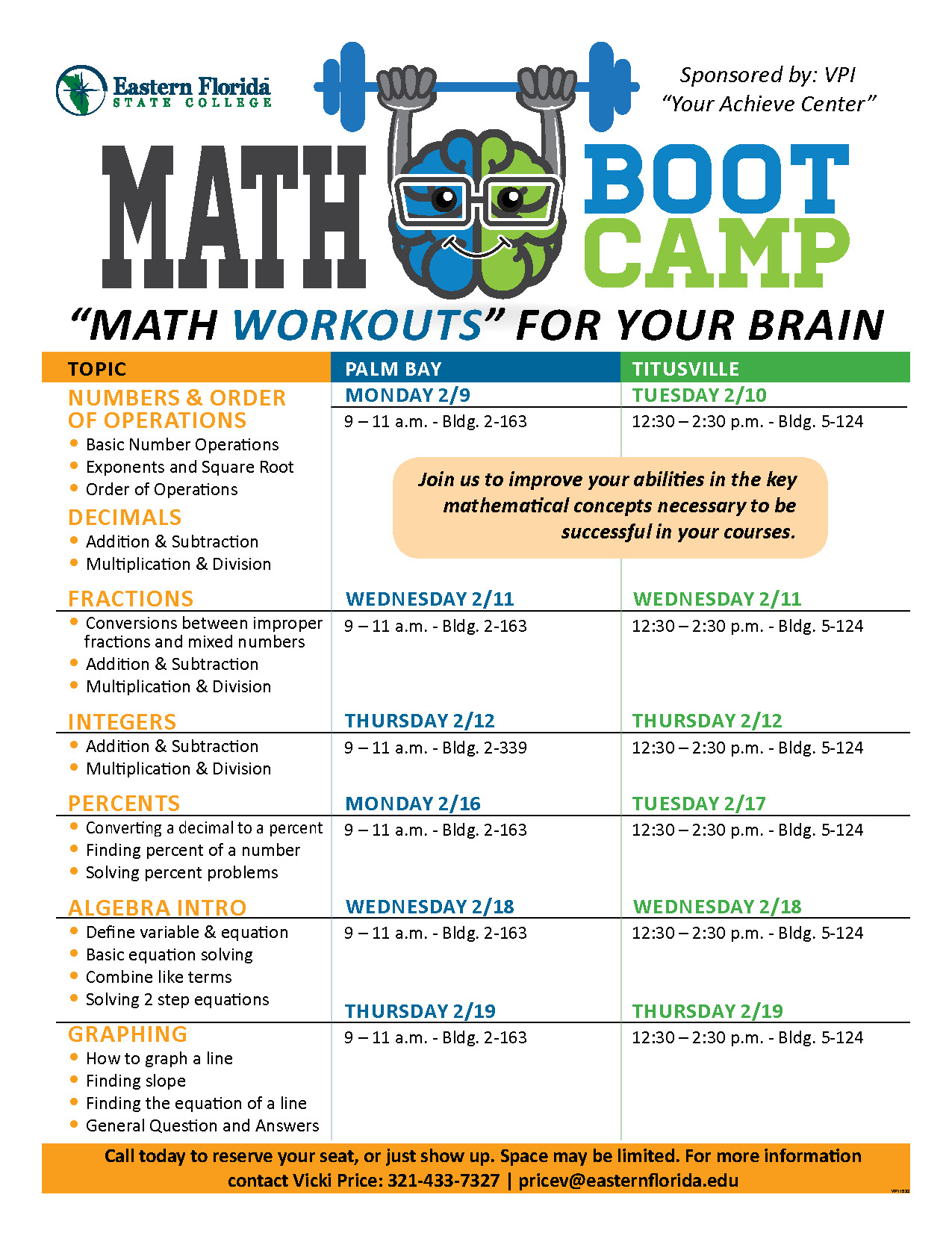 Math Boot Camp Palm Bay & Titusville
