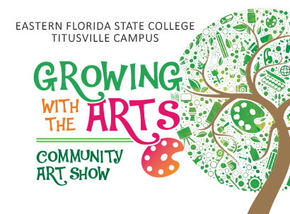 Growing with the Arts Community Art Show Logo