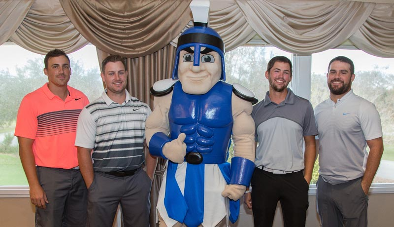 golfers with Titan mascot
