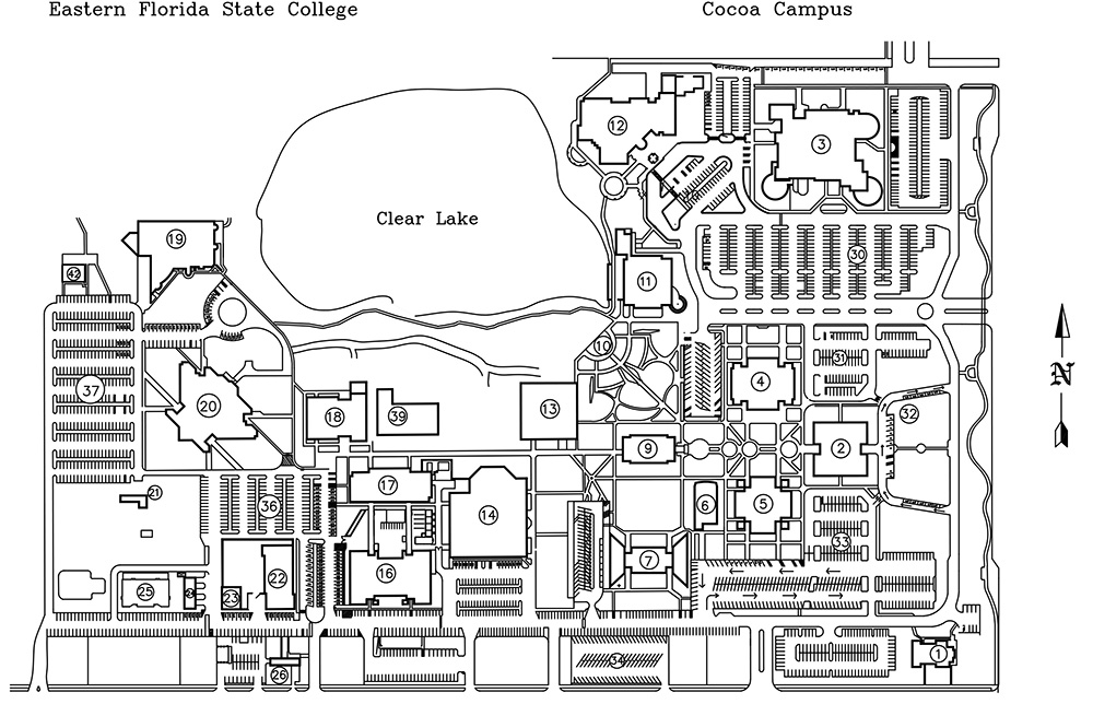 Map Of Melbourne Beach Florida.Eastern Florida State College Cocoa Campus Maps