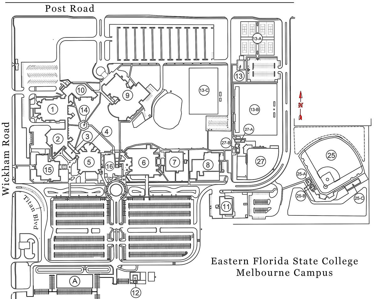 Melbourne Campus Map