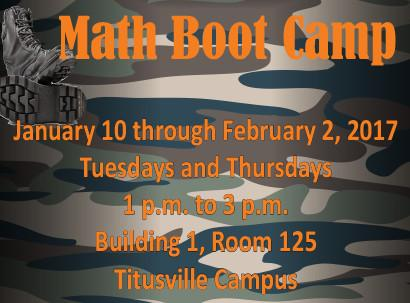 Math Boot Camp Sessions Start in January